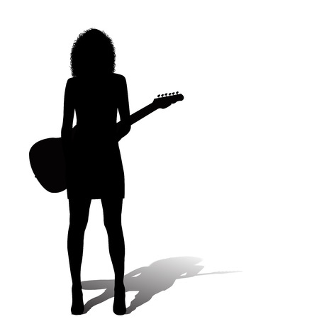 legs sexy: Sexy woman with an electric guitar