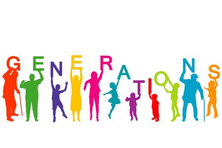 다른 연령대의 사람들과 세대 개념