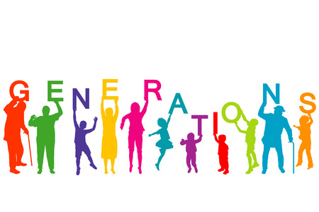 generations: Generations concept with people from different ages