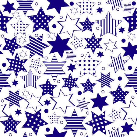 stelle blu: Blue stars background