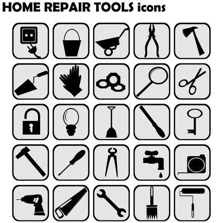 do it yourself: Set of home repairs icons