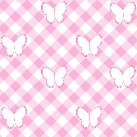 baby girl background: Baby girl background with tablecloth and butterflies