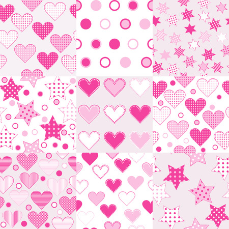 baby girl: Baby girl seamless background patterns