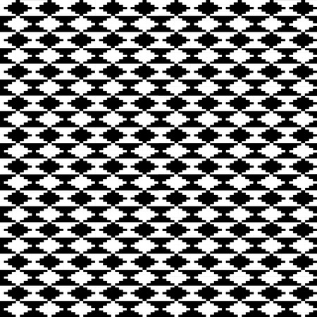 slantwise: Black and white ethnic motifs carpet