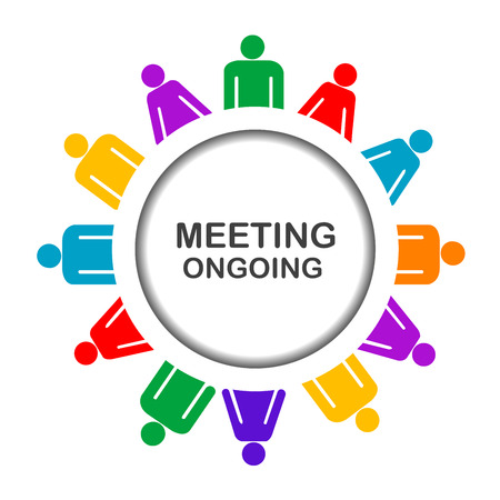 ongoing: Colorful meeting ongoing icon