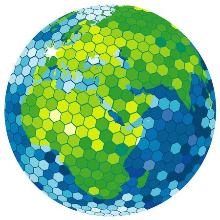 country club: Earth globe disco ball