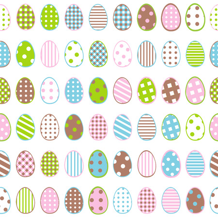 pasch: Easter wrapping paper with patterned eggs on white background