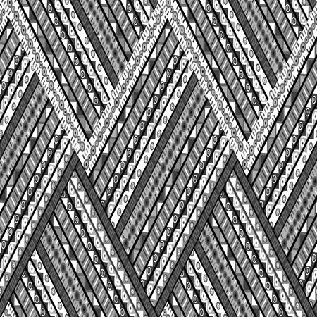zig: Zig zag background with ethnic motifs