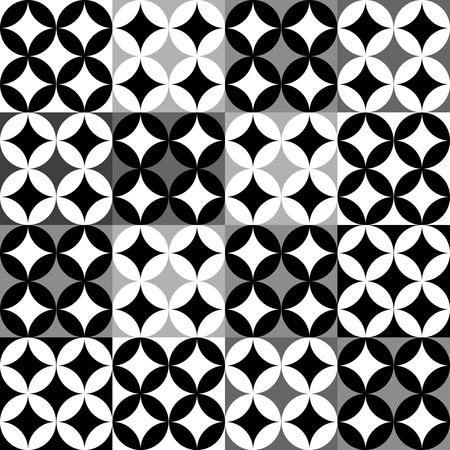 Black and white geometric pattern Illustration