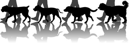 Hunde Ausbildung Illustration