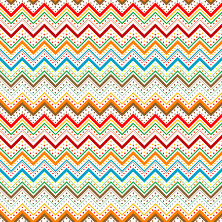 zig: Colorfull zig zag with stripes and dots