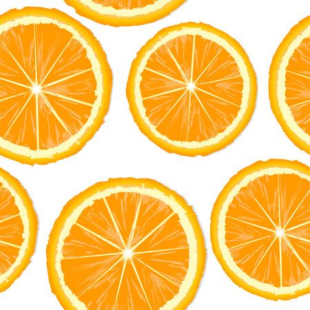zest: Orange slices seamless background