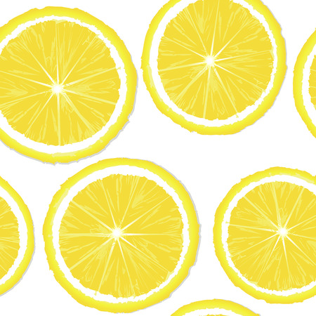 Lemon slices seamless background