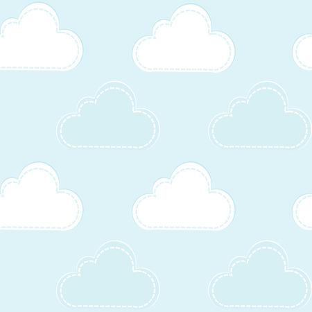 nubes caricatura: Nubes de la historieta sin patrón