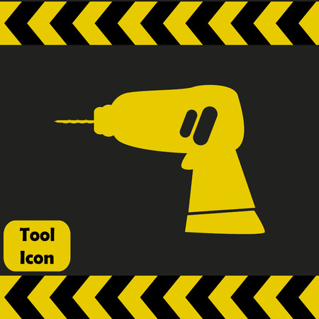 repairing: Power drill icon, repairing service tool sign