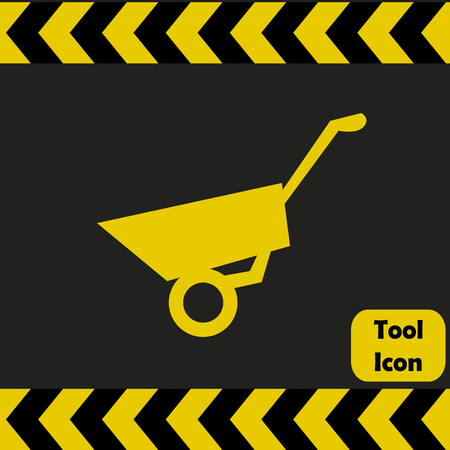 handcart: Wheelbarrow icon,  repairing service tool sign