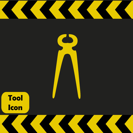 nippers: Nippers icon, repairing service tool sign