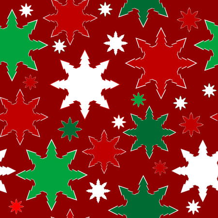 christmas stars: Christmas background with fall snowflake snow stars