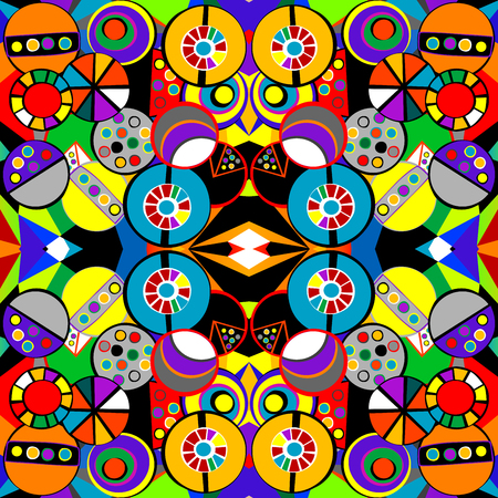 cubism: Colorful background pattern in cubism style