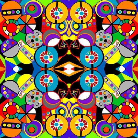 cubismo: Patrón de fondo colorido en estilo del cubismo