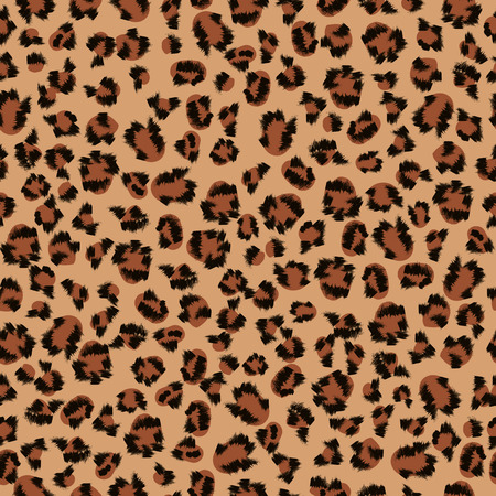 amur: Seamless pattern of leopard fur Stock Photo