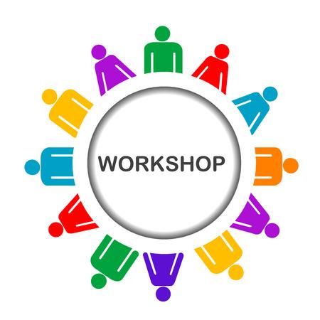 Illustratie van workshop pictogram geïsoleerd op witte achtergrond Stockfoto - 47275437