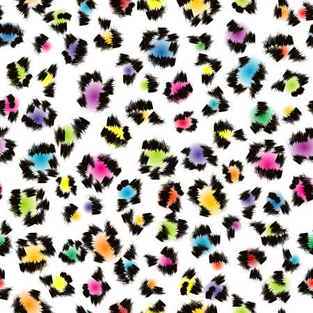 다채로운 표범 모피 배경