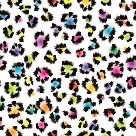 Colorful leopard fur background