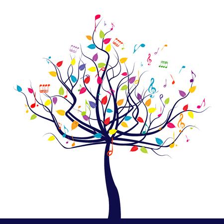 Happy musical tree