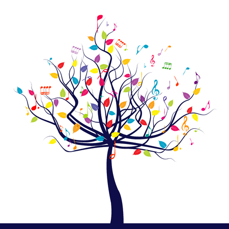 Happy musical tree