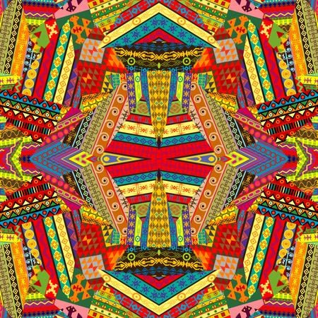 patchwork background: Colorful ethnic patchwork background design