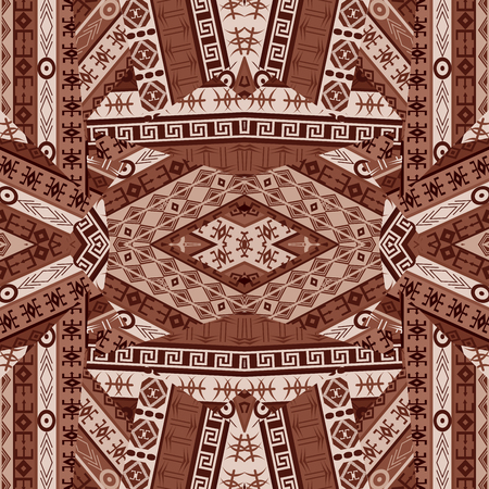 african americans: Ethnic patchwork design with african elements