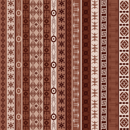 brown pattern: Brown ethnic carpet with african elements