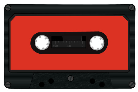 compact cassette: Audio cassette tape isolated on white background