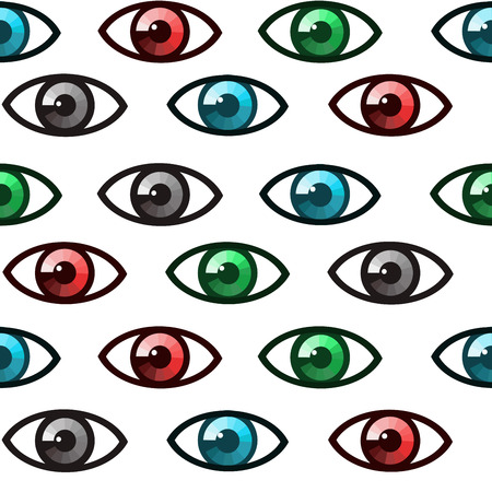 paranoia: Seamless background with colored eyes