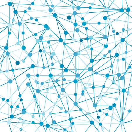 blue network: Blue abstract network with dots and lines