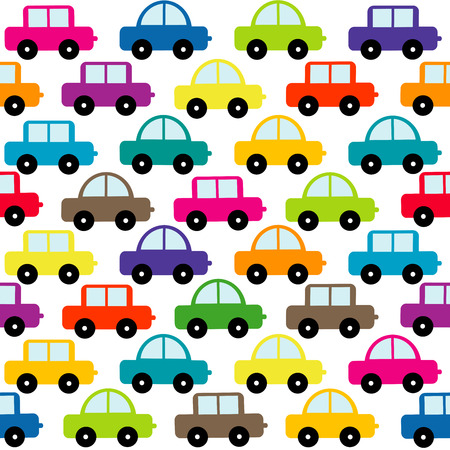 Toy cars seamless background
