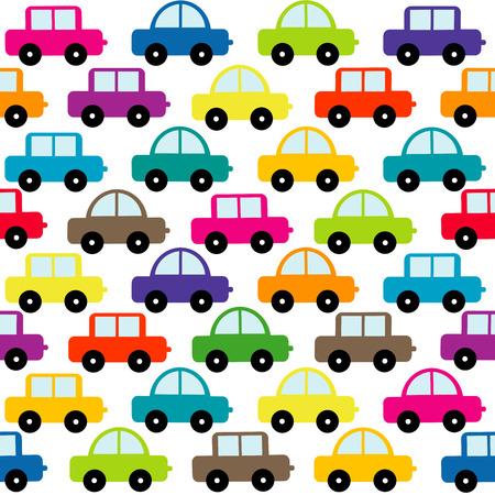 carritos de juguete: Los coches de juguete de fondo sin fisuras Vectores