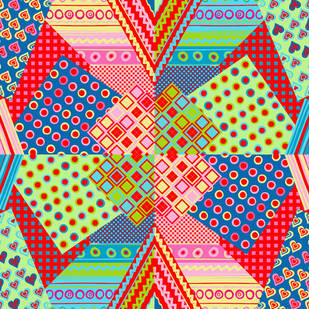 patchwork: Multicolored patchwork cover Illustration