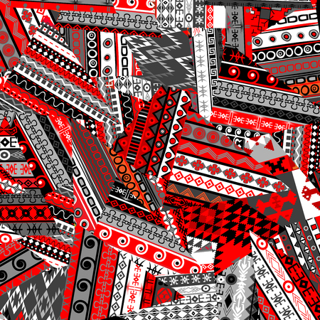 patchwork: Ethnic patchwork background Illustration