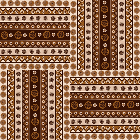 Ethnic ornaments seamless pattern in african style 矢量图像