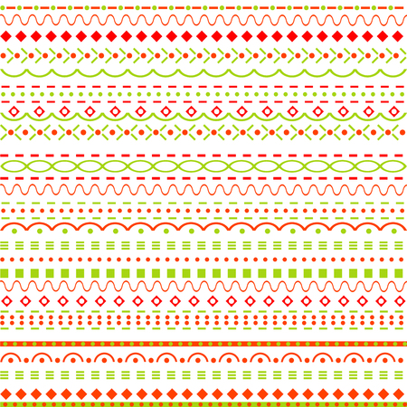 vertical dividers: Whimsical background with dots and  lines Illustration