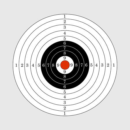 target shooting: Target illustration for sport target shooting competition