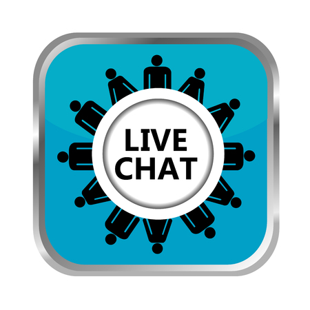 chat: Live chat button on white background