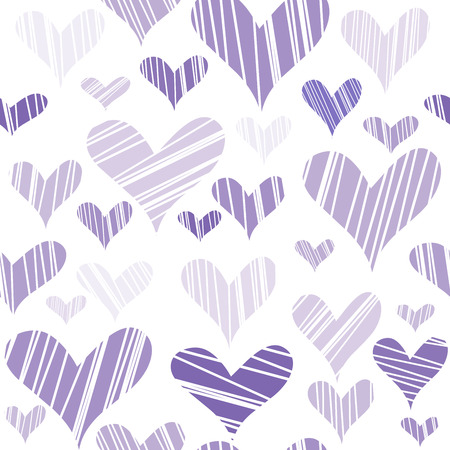 hatched: Hatched mauve hearts seamless background