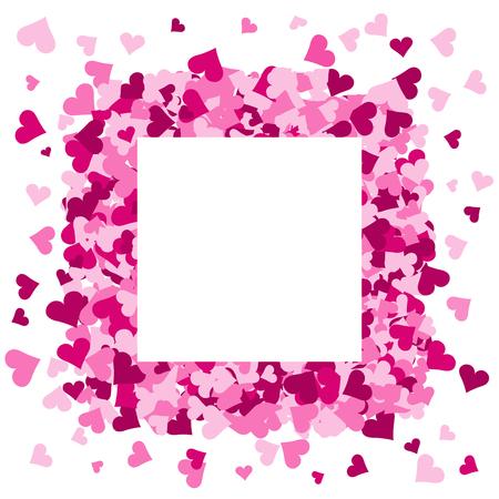 Roze harten frame met ruimte voor tekst