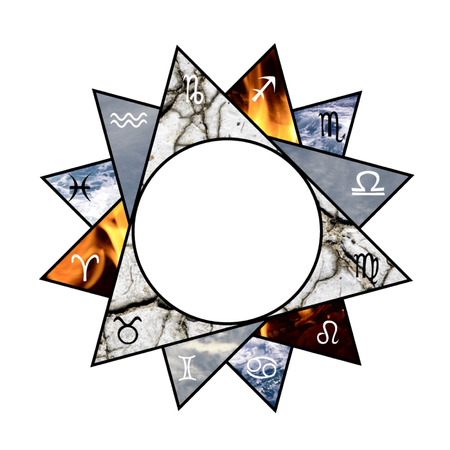 Astrology background with zodiac signs