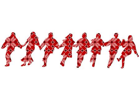 エスニックな装飾パターン ダンサー  イラスト・ベクター素材