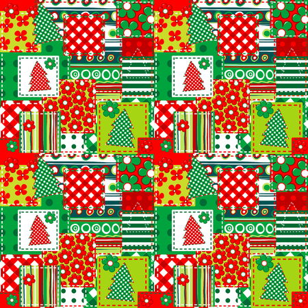 Wrapping paper for your Christmas. Seamless texture for Christmas packaging Illusztráció