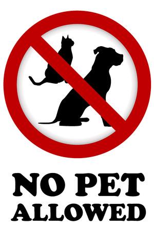 No pet allowed sign Illustration